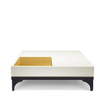 Kate Spade Downing Coffee Table Brass/Cream/Onyx ONE