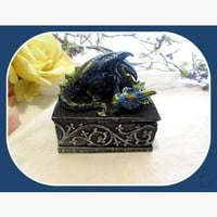 Mystical Blue Mist Dragon Wish Box