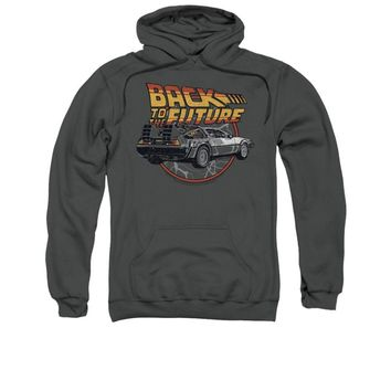 Back To The Future Movie Time Machine Licensed Adult Pullover Hoodie