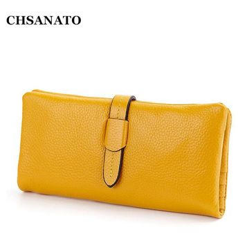 New 2017 Woman Leather Wallet Genuine Leather Wallets Women Wallets Cowhide Long Wallet High Quality Purses