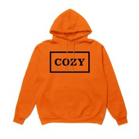 Team Cozy - Cozier Box Hoodie - Orange