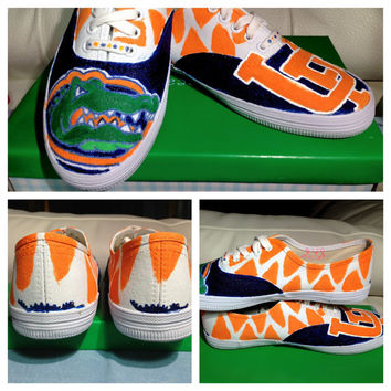 University of Florida Custom TOMS Vans Keds or by SolelyYoursShoes
