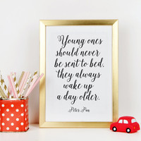 PETER PAN QUOTE,Kids Room Decor,Nursery Wall Art,Nursery Quote,Gift For Kid,Peter Pan Print,Typography Print,Wall Art,Printable Quote,Quote