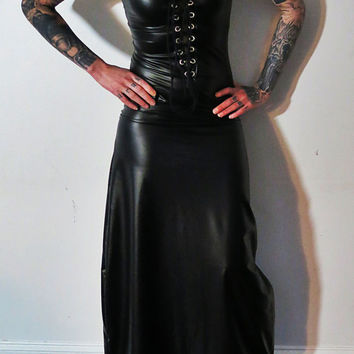 Hell Couture Black Rubber Maxi Dress