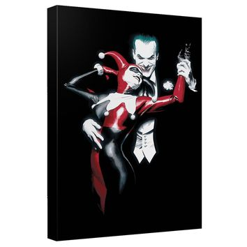 Batman - Joker And Harley Canvas Wall Art With Back Board