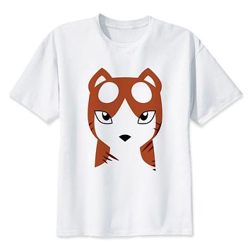 summer t-shirt boy print anime t shirt clothing white color tops tees