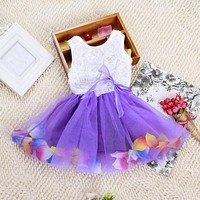 Toddler and Little Girl Lace and Tutu Dress.     Available in Pink, Red, Yellow, Blue, Purple, Green and Rose Red.    In Sizes 2T, 3T, 4T and 5.    ***FREE SHIPPING***