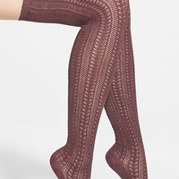 Women's Free People 'Hammock' Openwork Knit Thigh High Socks