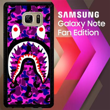 A Bathing Ape Purple J0041 Samsung Galaxy Note FE Fan Edition Case