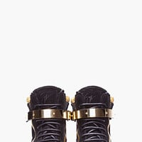 BLACK AUGUST GOLD TRIM SNEAKERS