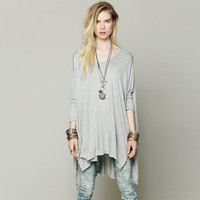 Long Sleeves Loose Slit Cloak Shirt