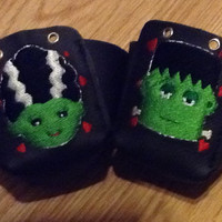 Leather Frankenstein and the Bride Roller Derby Toe Guards