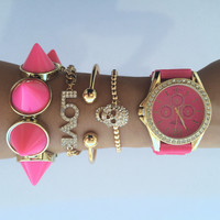 Pink Softcore watch set