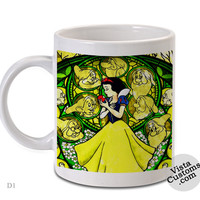 Snow White (Disney Princess Glass Painting), Coffee mug coffee, Mug tea, Design for mug, Ceramic, Awesome, Good, Amazing