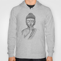 Shh... Do not disturb - buddha hoodies for men and women in different colors and also with zipper by Vanya