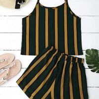 Cami Striped Top with Shorts