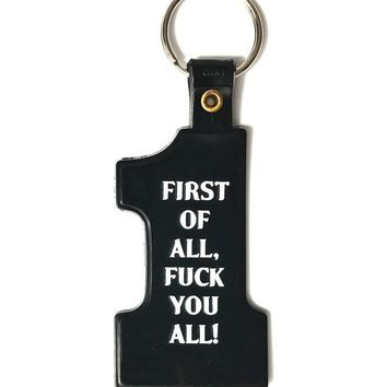 First Of All... Keychain