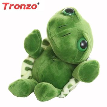 Tronzo 20cm Super Green Big Eyes Stuffed Tortoise Turtle Animal Plush Baby Toy Birthday/Christmas Gift For Kids Dropshipping