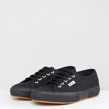 Superga 2750 Canvas Trainers In Black at asos.com