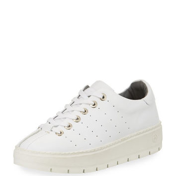 Rag & Bone Linden Leather Platform Sneaker, White