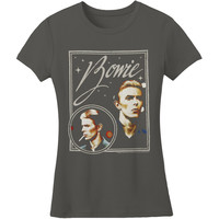 David Bowie Women's  Bowie Vision Girls Jr Soft tee Grey