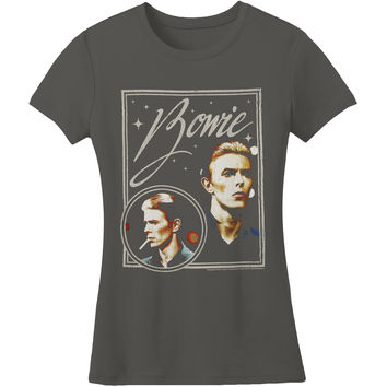 David Bowie  Bowie Vision Girls Jr Soft tee Grey