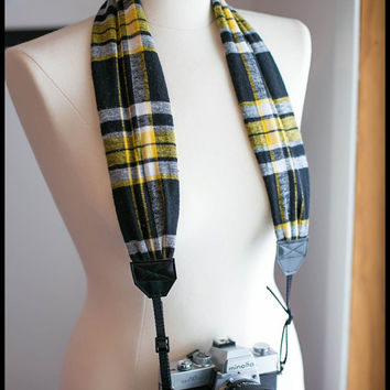 Scarf Camera Strap - Flannel