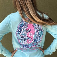 """Simply Southern """"Seahorse"""" - Blue"""