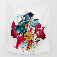 Carpe mortem Wall Tapestry by RIZA PEKER