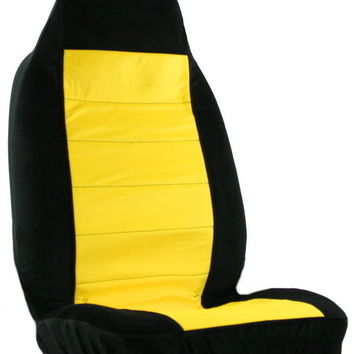 yellow black car seat cover from car decor products wants and. Black Bedroom Furniture Sets. Home Design Ideas