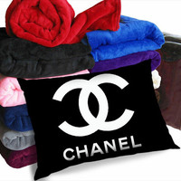 Chanel logo white pillow case adorabel bedroom,heppy bedroom and heppy sleeping.