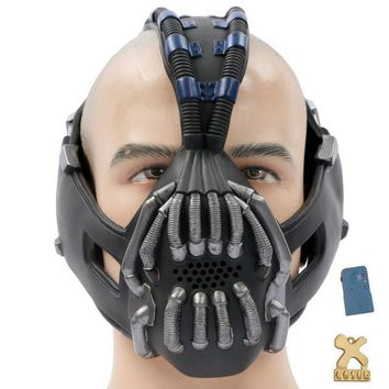 DCCKIX3 Batman The Dark Knight Rises Bane Cosplay Mask Gun Metal Version With Voice Changer
