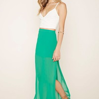 Side Slit Maxi Skirt | Forever 21 - 2000177081