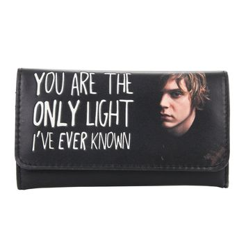 Licensed cool American Horror Story Tate Flap Wallet Billfold Ghost Only Light Known Quote NWT