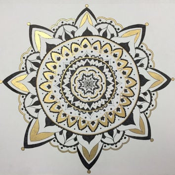Black and Gold Mandala Design