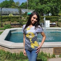 University of Iowa #2 'Big Herky' All Over Print Ladies Burnout Tee - Medium