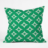 Holli Zollinger Emerald Diamonds Throw Pillow