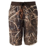 Realtree Camouflage Contrast Waist E-Board Shorts