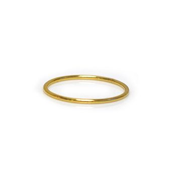 Simple Yellow Gold Stacking Band