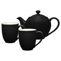 Noritake® Colorwave 3-Piece Tea-for-Two Teapot Set in Graphite