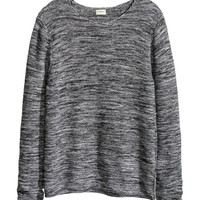 H&M - Purl-knit Sweater - Black - Men