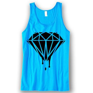 Diamond Dripping Unisex Tank Top Funny and Music