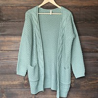 late at night cardigan - mint