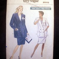 Maternity Jacket and Skirt Misses' Size 8, 10, 12 Vogue 7704 Sewing Pattern Uncut