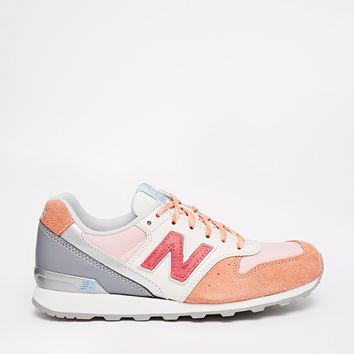 New Balance 996 Orange Leather/Mesh Trainers