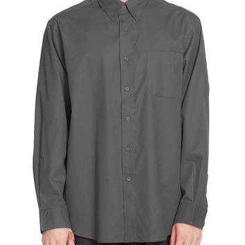 PREMIUM Mens Classic Wrinkle Resistant Long Sleeve Button Down Shirt