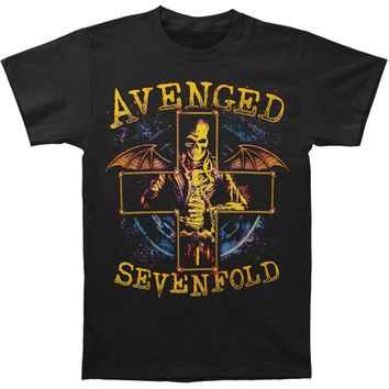 Avenged Sevenfold Men's  AVS Stellar Mens Regular T T-shirt Black
