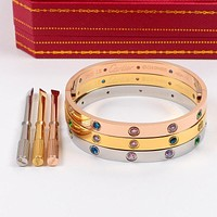 Cartier Color Diamonds Women Fashion Bracelet Jewelry