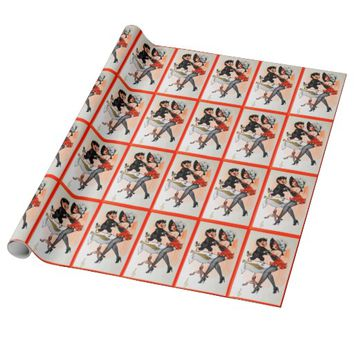 Happy Krampus with Temptress Vintage Christmas Wrapping Paper