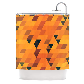 "Danny Ivan ""Gold Pattern"" Shower Curtain"